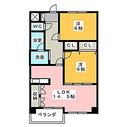 第8田中ビル[2階]の間取り