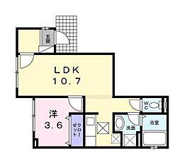 東京都板橋区蓮根3丁目の賃貸アパートの間取り
