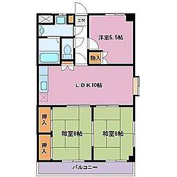 野知マンションA[2階]の間取り