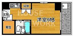 コスモリード京都今出川 (旧:サンハイツ星の子)[507号室号室]の間取り