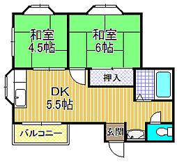 仁平マンション[4階]の間取り