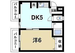 奈良県奈良市三碓2丁目の賃貸マンションの間取り