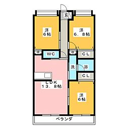 アデューム[2階]の間取り
