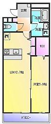 ドミソレイユ2[2階]の間取り