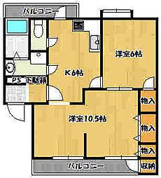 兵庫県明石市上ノ丸3丁目の賃貸マンションの間取り