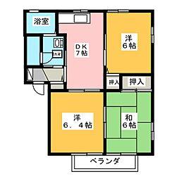 グラシア妹尾 壱番館[1階]の間取り