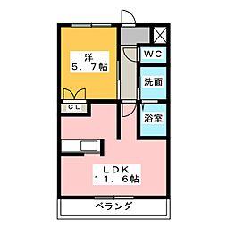シティ・コート葵[6階]の間取り