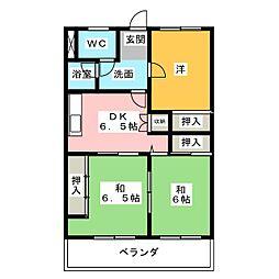 シティ15[4階]の間取り