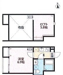 cube inohana[2階]の間取り