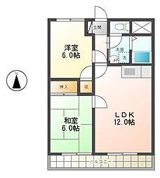 マンション登り戸[3階]の間取り