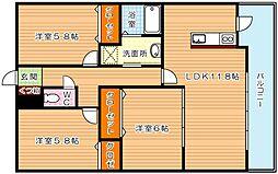 メゾンほおづきI[10階]の間取り