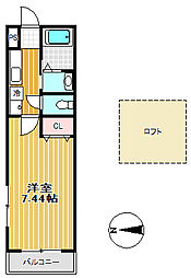 カオール柏木[2階]の間取り
