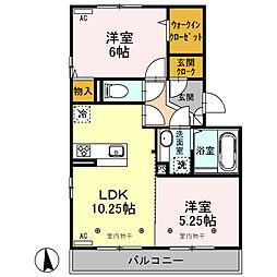 (仮)D-roomオッツ川原町[305号室]の間取り
