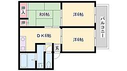 兵庫県加古川市尾上町養田1丁目の賃貸アパートの間取り