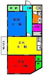 東京都杉並区高井戸東1丁目の賃貸アパートの間取り