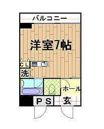 カイセイマンション[5階]の間取り