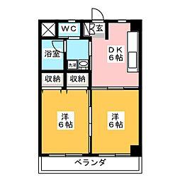 メゾンコンフォート[2階]の間取り