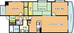 ハイツ高松II[6階]の間取り