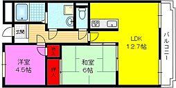 カーサ東大阪・徳庵[2階]の間取り
