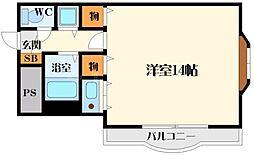 シャトレ豊津2[3階]の間取り