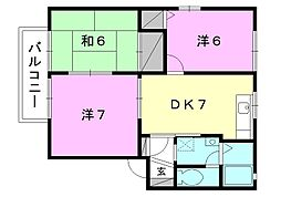 ディアスK1[101 号室号室]の間取り