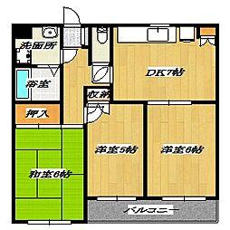 Fifth Arai Place[107号室]の間取り