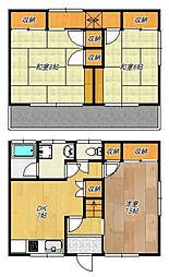 [テラスハウス] 神奈川県横浜市港北区下田町1丁目 の賃貸【/】の間取り