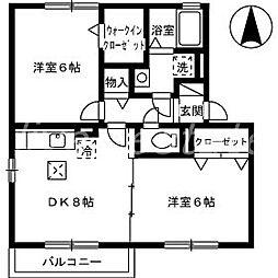 セジュール杉山 A棟[1階]の間取り