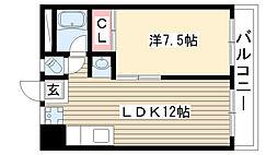 コーポ小池[305号室]の間取り