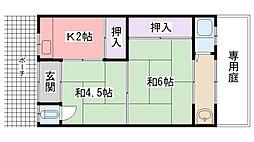 松本文化[nishi号室]の間取り