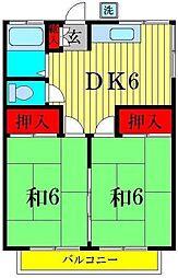 田中コーポII[2階]の間取り