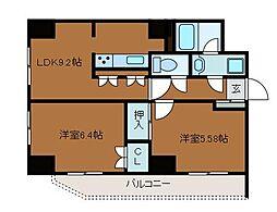 オークウッド2[2階]の間取り