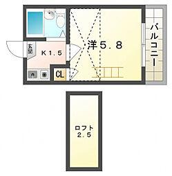 基住ハイツ第3[2階]の間取り