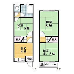 [一戸建] 大阪府大東市大東町 の賃貸【/】の間取り