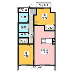 アフロディーテ[3階]の間取り