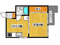 兵庫県神戸市垂水区仲田3丁目の賃貸マンションの間取り