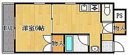 メゾンダイコー舟木[6階]の間取り