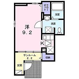 サンライズ T−ハウス[0101号室]の間取り