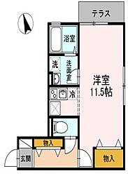 アムール安宅[1階]の間取り