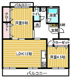 原田マンション[1階]の間取り