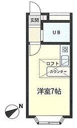 神奈川県鎌倉市寺分の賃貸アパートの間取り
