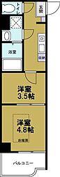 大阪ドームインながほり[3階]の間取り