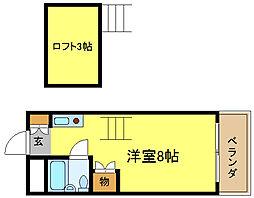 タクティ加美[5階]の間取り