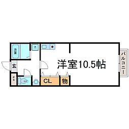東園田イーストハイツ[3階]の間取り