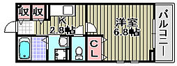 スリール2[2階]の間取り