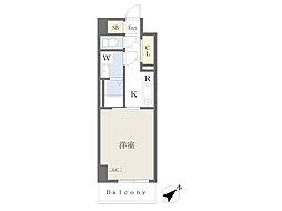 川崎区堀之内町計画 5階1Kの間取り