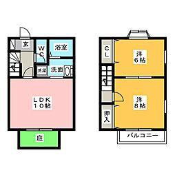 [テラスハウス] 愛知県名古屋市中川区七反田町 の賃貸【/】の間取り