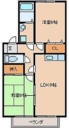 ガ−デニアⅡA棟[201号室]の間取り