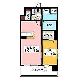 modern palazzo 天神北[9階]の間取り