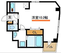 東京メトロ東西線 西葛西駅 徒歩4分の賃貸マンション 2階ワンルームの間取り